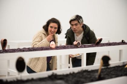 craft students observing artwork