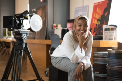 Hajr Avant (BA '18) worked as the production designer for Nate Loves Sarah during the Cinema program's Summer Intensive.