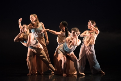 Dance students perform in a senior project at Grace Street Theatre.
