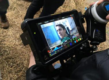 Keegan Garant shown on a camera screen