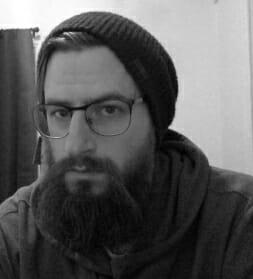 black and white headshot of Erick Worthington