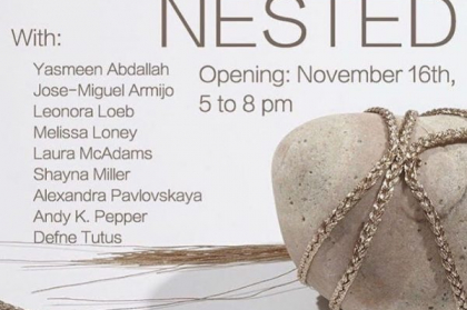 Nested Opening November 16th 5 to 8 pm