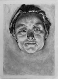 charcoal portrait drawing by Viv Rathfon