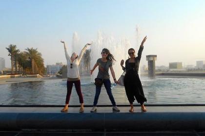 art history students in doha