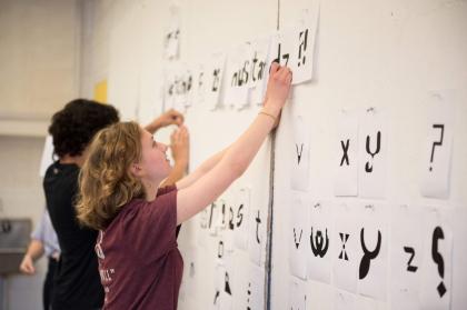 graphic design summer intensive students