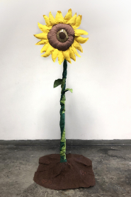 soft sculpture of a sun flower