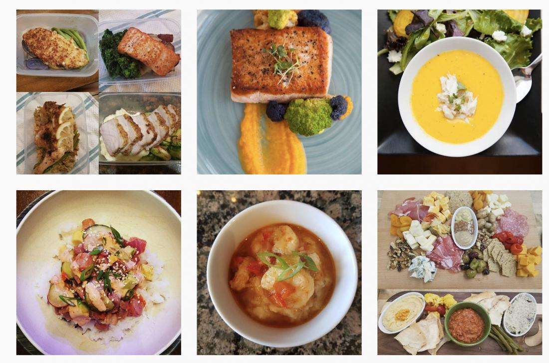 grid of food photos
