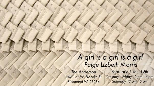 Paige Morris exhibition poster